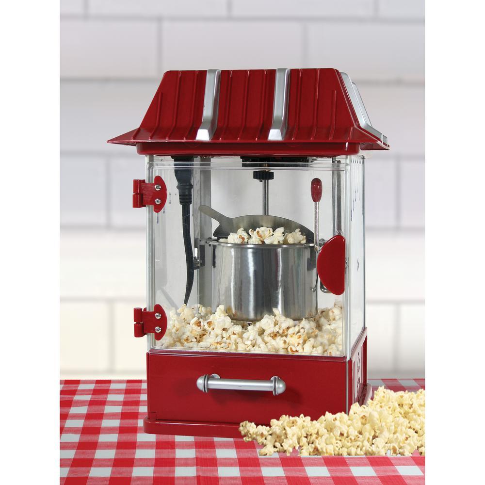 Internet #203011290. AmeriHome Vintage Theater Style Tabletop Popcorn Maker  ...