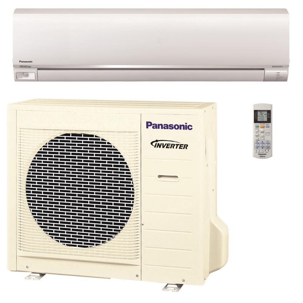 Panasonic 18 000 btu 1 5 ton exterios ductless mini split for 18000 btu heat pump window unit
