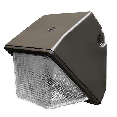 Commercial Grade 30-Watt 8.5 in. Bronze Outdoor Integrated LED Security Wall Pack Light