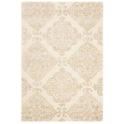 Glamour Ivory/Beige 4 ft. x 6 ft. Area Rug