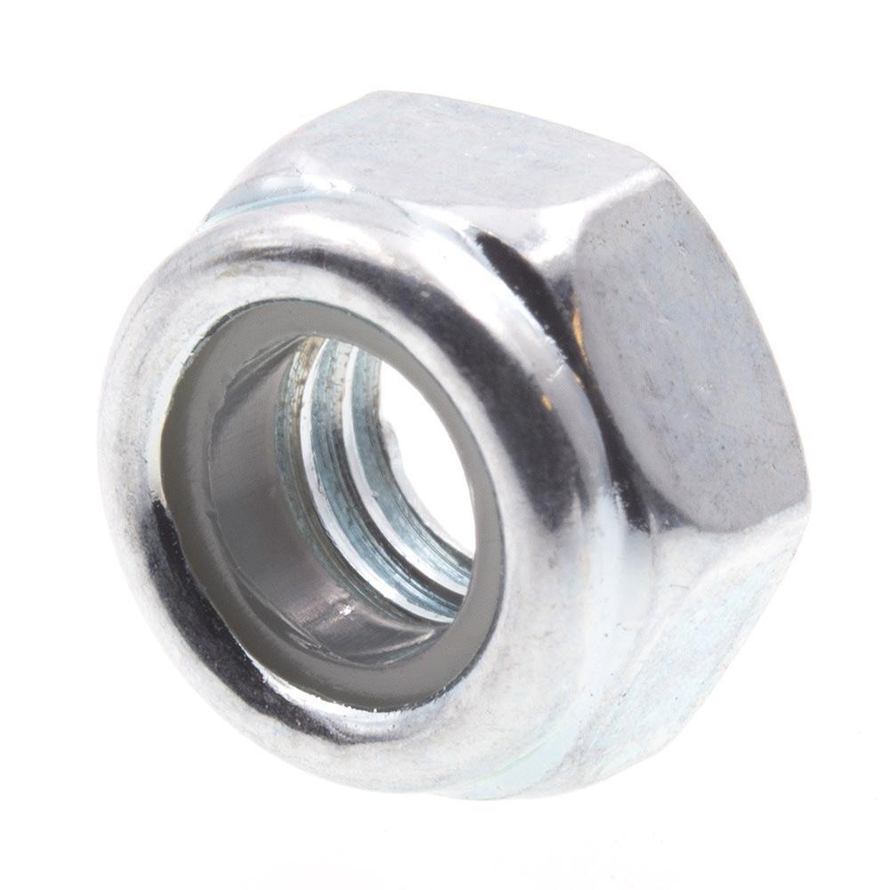 Class 8 Metric, M6-1.0, Zinc Plated Steel Nylon Insert Lock Nuts (25-Pack)