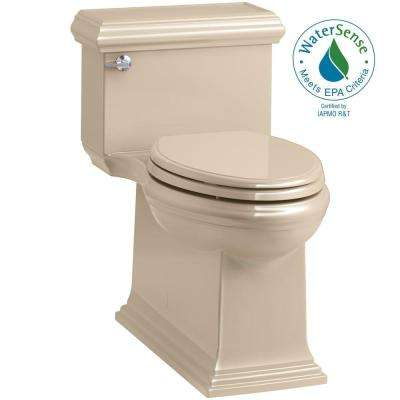 Memoirs Classic 1-Piece 1.28 GPF Single Flush Elongated Toilet in Mexican Sand, Seat Included
