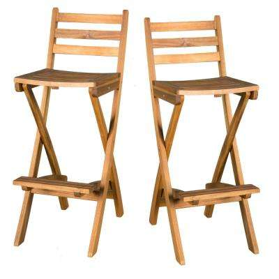 Camden Foldable Wood Outdoor Bar Stool (2-Pack)