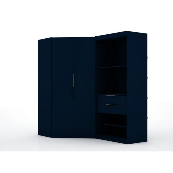 Luxor Ramsey 2.0 Tatiana Midnight Blue Semi Open 2-Sectional Corner Closet