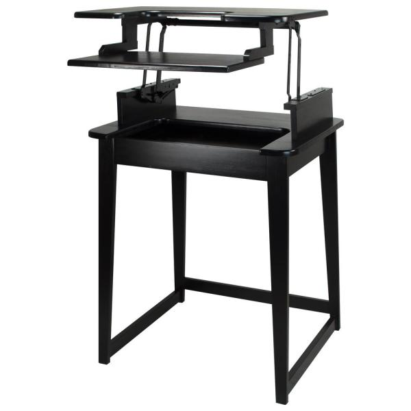 Casual Home Freestyle Black Stand-Up Desk 900-12