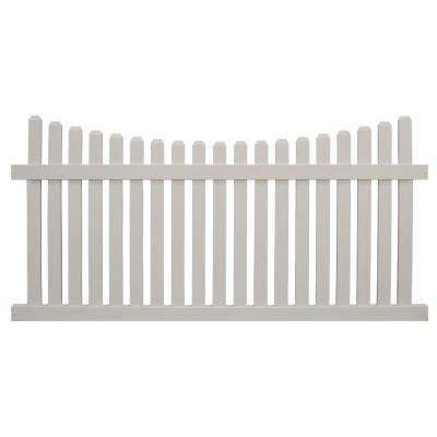 Richmond 4 ft. H x 6 ft. W Tan Vinyl Picket Fence Panel Kit