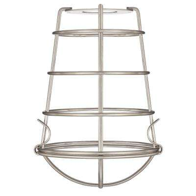 8-3/16 in. Brushed Nickel Industrial Cage Shade with 2-1/4 in. Fitter and 6 in. Width