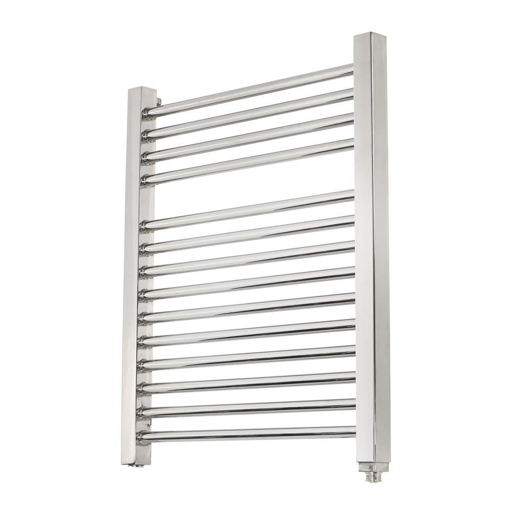 14-Bar Wall Mounted Electric Towel Warmer with Digital Timer in Stainless