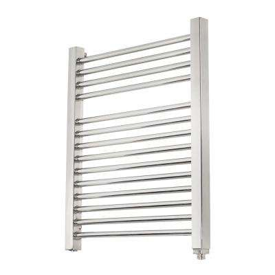 14-Bar Wall Mounted Electric Towel Warmer with Digital Timer in Stainless Steel Brushed