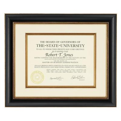 1-Opening 12 in. x 15 in. Matted Document Picture Frame