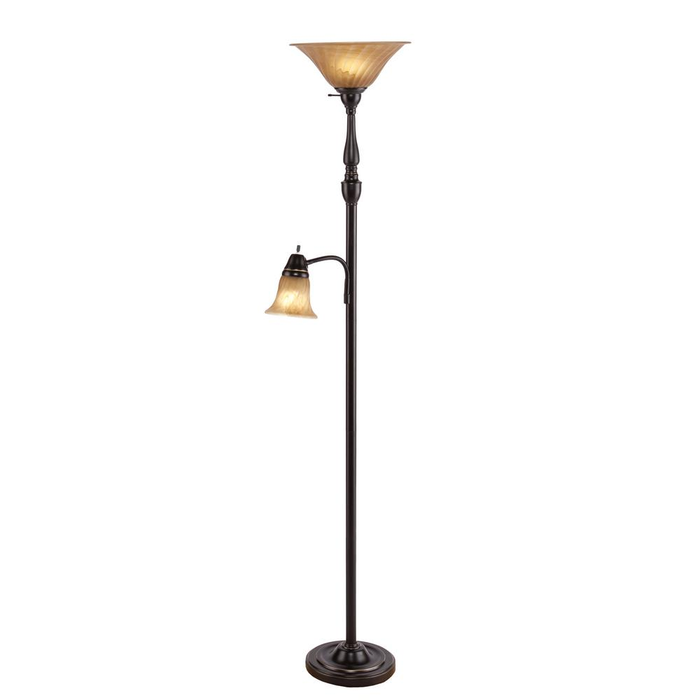 Edwin 71 5 In Black Floor Lamp Hd88715 The Home Depot