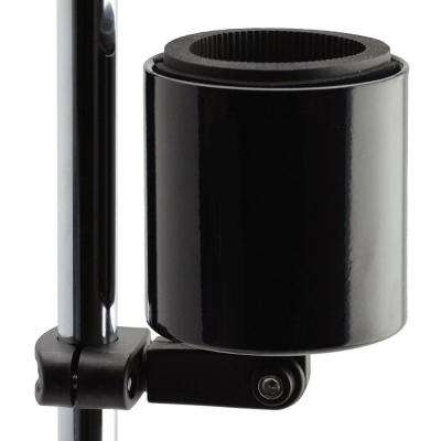 Kroozercups Deluxe Drink Holder Fit Bar from 5/8 in. to 1-3/8 in. at any Angle with New Super-Tight Grip in Gloss Black