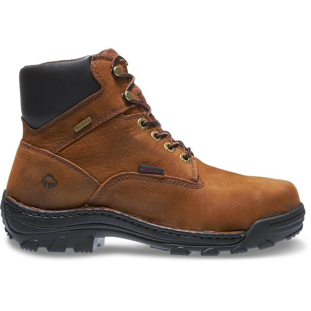 820c3a4c9f8 Wolverine Men's Durbin Size 8.5EW Brown Nubuck Leather Waterproof 6 in. Boot