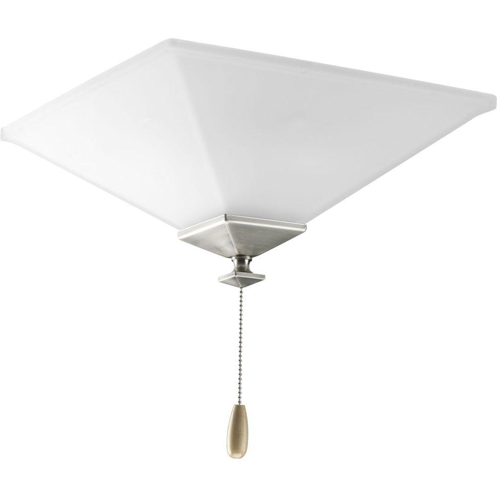 North Park Collection 3-Light Brushed Nickel Ceiling Fan Light
