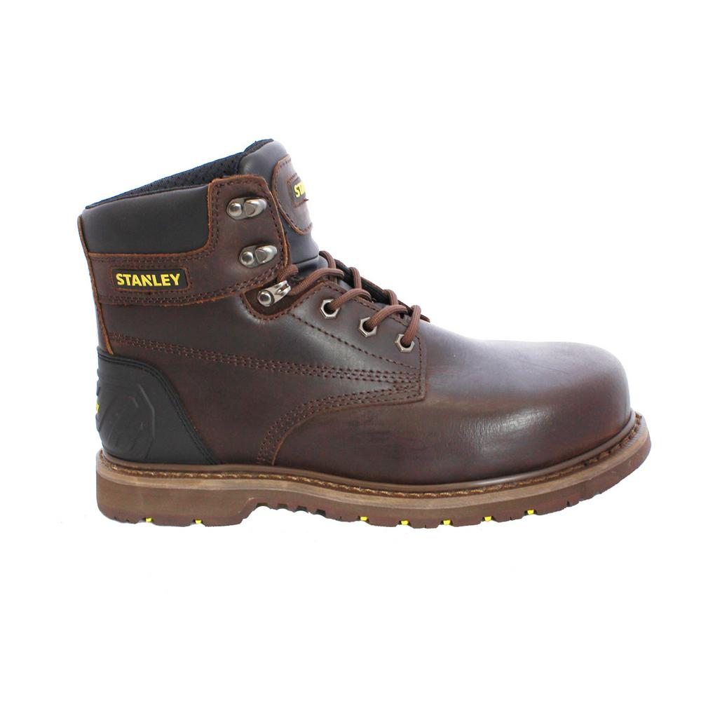 375adc7d598 Stanley Pro Lite Men's Size 10 Brown Leather Steel Toe 6 in. Work Boot