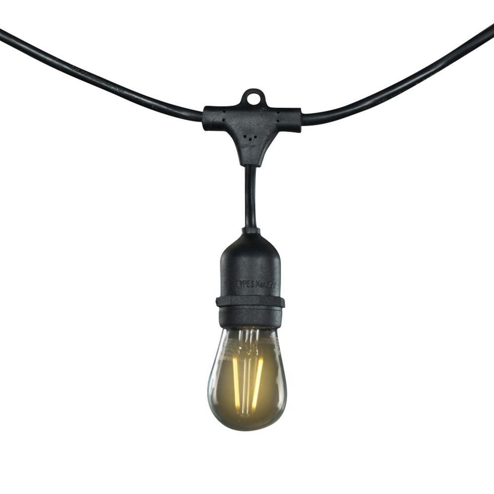 Enbrighten Outdoor String Lights: Enbrighten 12-Bulb 24 Ft. Vintage Integrated LED Cafe