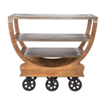 Los Pinos Collection Mango Wood Kitchen Cart