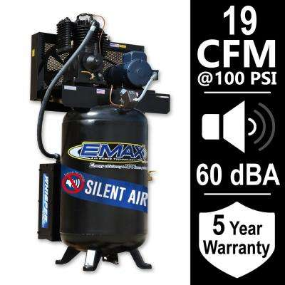 Industrial Series 80 Gal. 5 HP 1-Phase Silent Air Electric Air Compressor