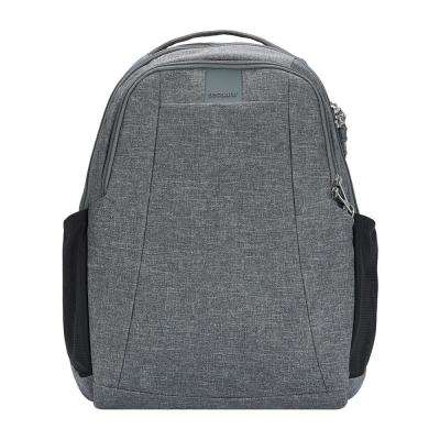 Metrosafe 17 in. Dark Tweed Backpack with Laptop Compartment