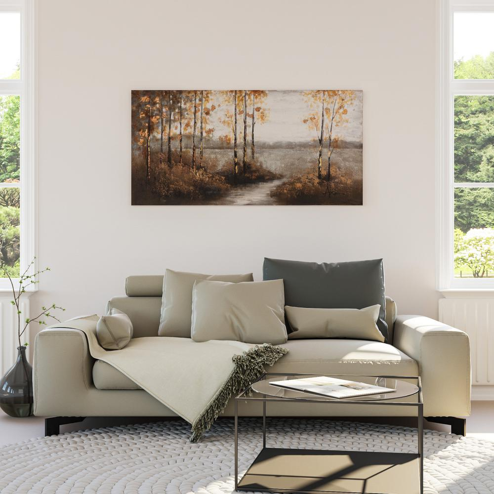 "28 in. H x 56 in. W ""Walking Home"" Artwork in"