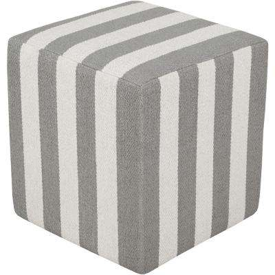 Callisto Gray Accent Pouf