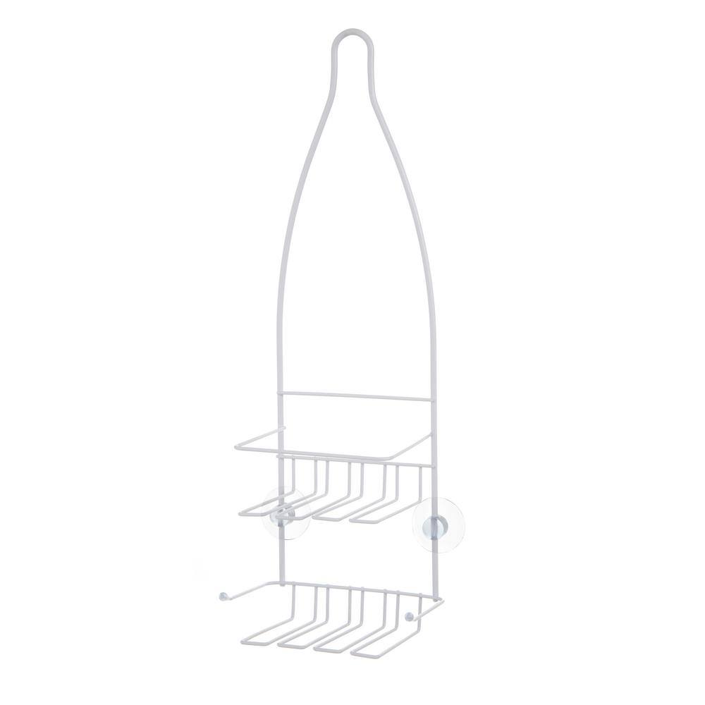 Kenney White Small Hanging Shower Caddy-KN625051REM - The Home Depot