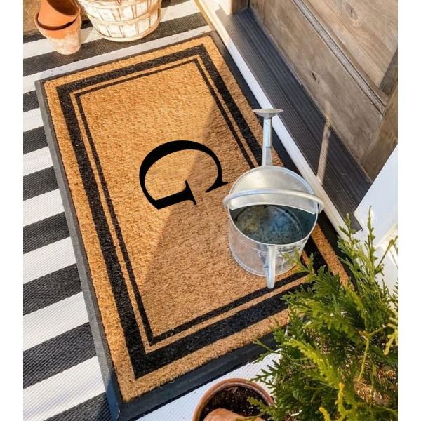 A1hc First Impression Markham Border 29 5 In X 47 In Coir Double Monogrammed G Door Mat A1home200102 G The Home Depot