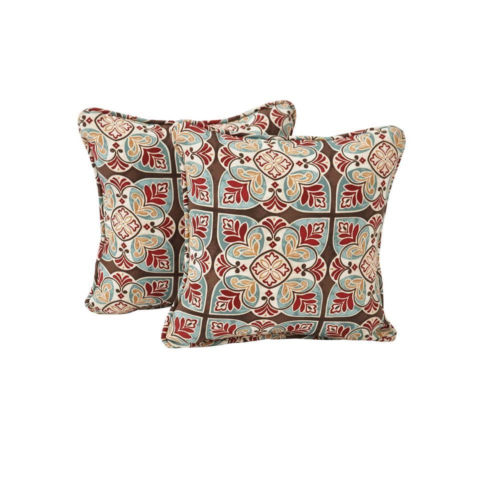 Hampton Bay Fenton Outdoor Throw Pillow 2 Pack Fentp 2pk The