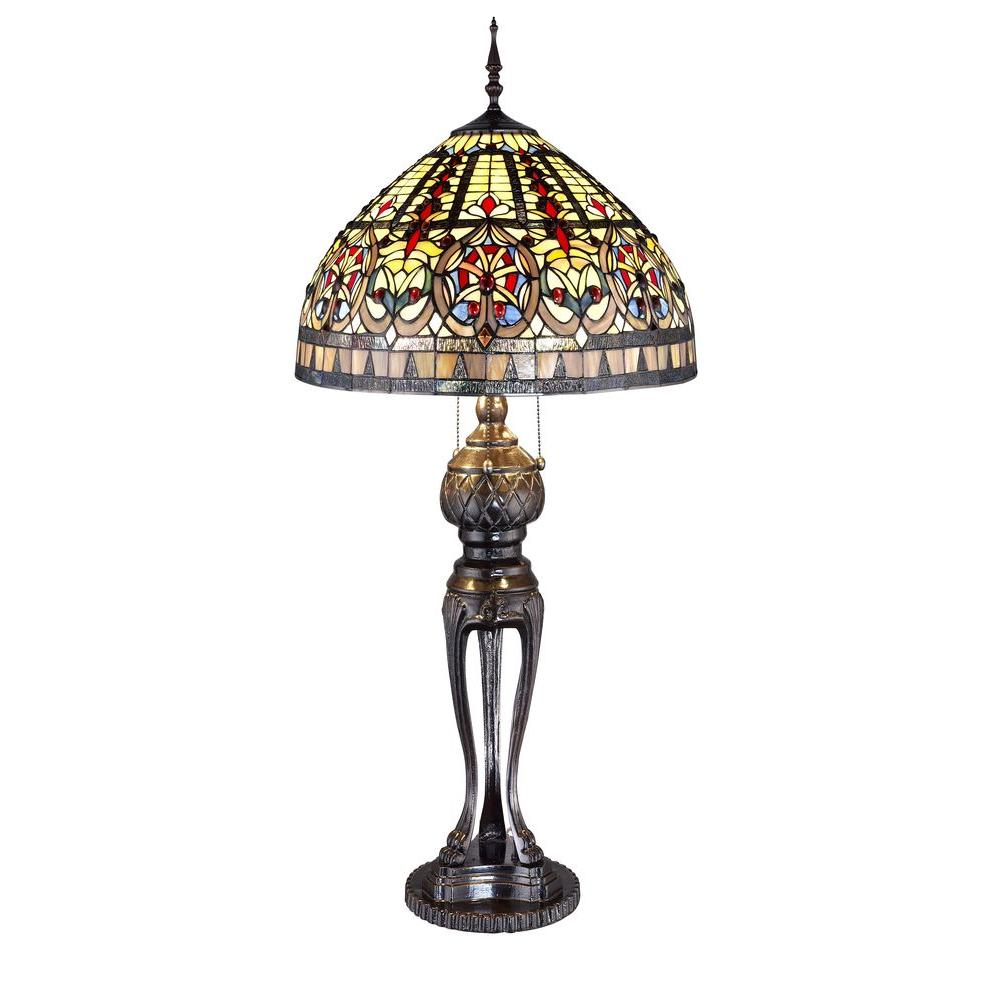Tiffany Emperor 33 in. Bronze Table Lamp