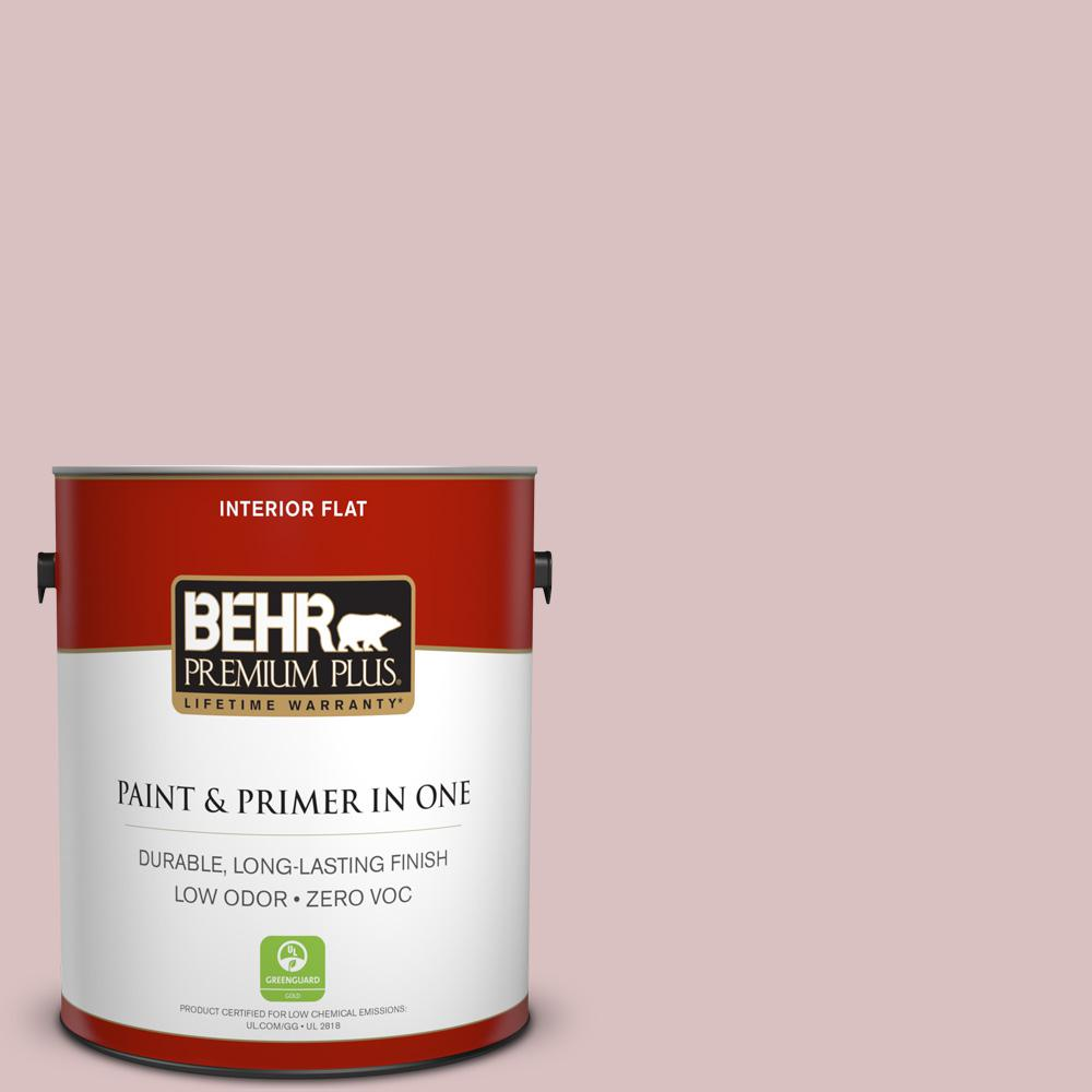 1 gal. #PPU17-08 Peony Blush Zero VOC Flat Interior Paint