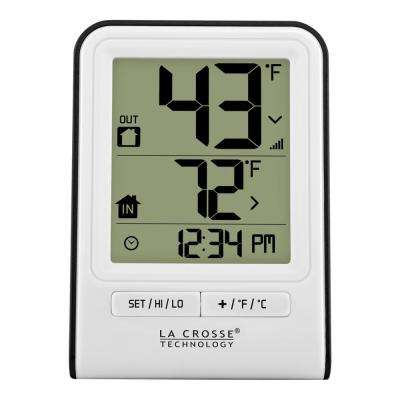 White Wireless Temperature Station with Time