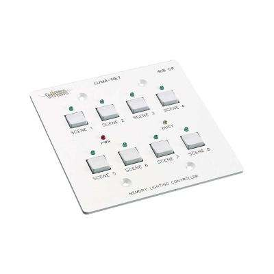 Luma-Net Remote Memory Control Panel with 8 Programmable Scenes, White