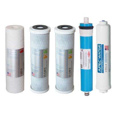 Ultimate High Flow w/Upgraded 3/8 in. Output Reverse Osmosis System 50 GPD Stage 1-5 Replacement Water Filter Cartridge
