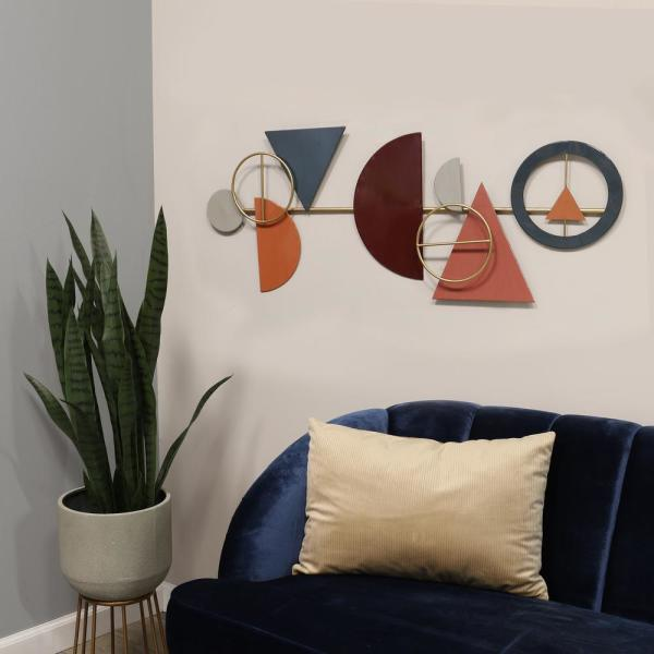 Stratton Home Decor Abstract Metal Centerpiece Wall Decor S30858 The Home Depot