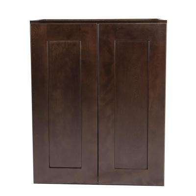 Brookings Fully Assembled 24x30x12 in. Kitchen Wall Cabinet in Espresso