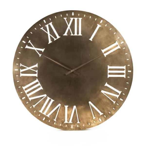 Distressed Gold Cutout Roman Numeral Laure Clock