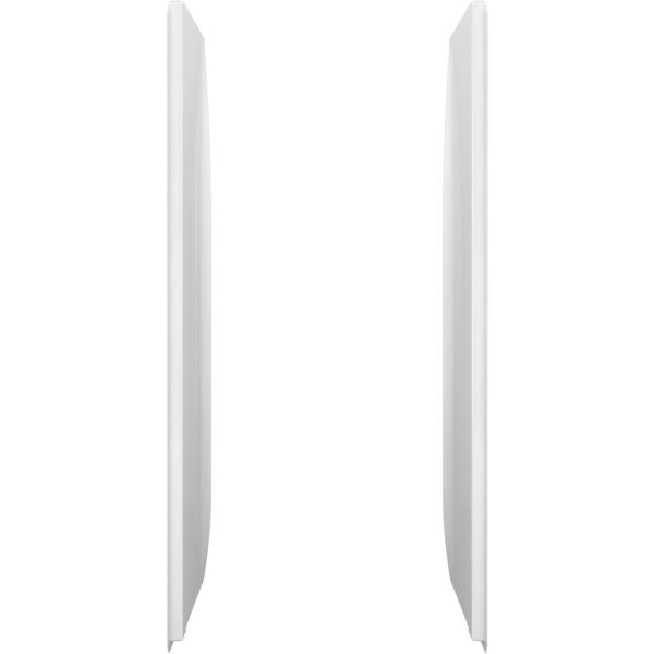 34 in. x 76 in. 2-Piece Direct-to-Stud Alcove Shower End Wall Set in White