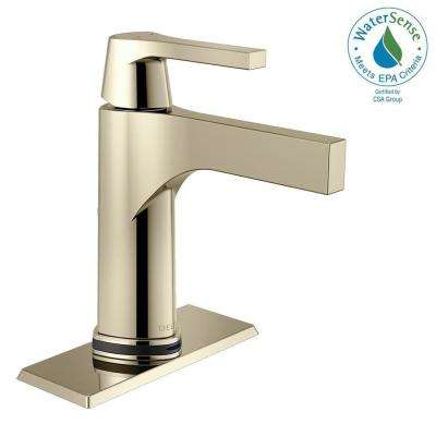 Zura Single Hole Single-Handle Bathroom Faucet with Touch2O.xt Technology in Polished Nickel