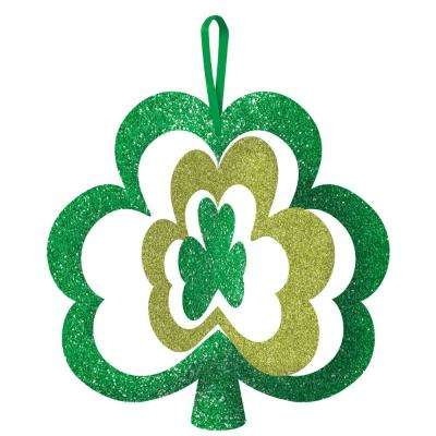 11.5 in. x 12 in. St. Patrick's Day Green MDF Shamrock Spinning Sign (5-Pack)