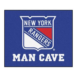 New York Rangers Blue Man Cave 5 ft. x 6 ft. Area Rug