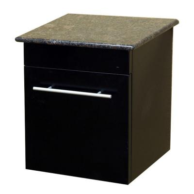 Norwalk 15 in. W x 17 in. H x 14 in. D Solid Wood Side Cabinet in Black