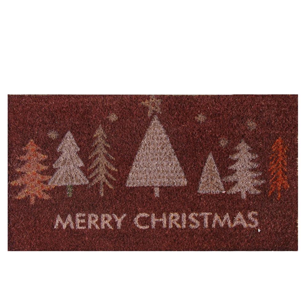 Merry Christmas ''Oh, Christmas Tree!'' 18 in. x 30 in. Coir Door Mat