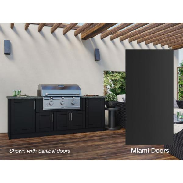 Weatherstrong Miami Pitch Black 12 Piece 91 25 In X 34 5 In X 28 In Outdoor Kitchen Cabinet Set Wse90wm Mpb The Home Depot