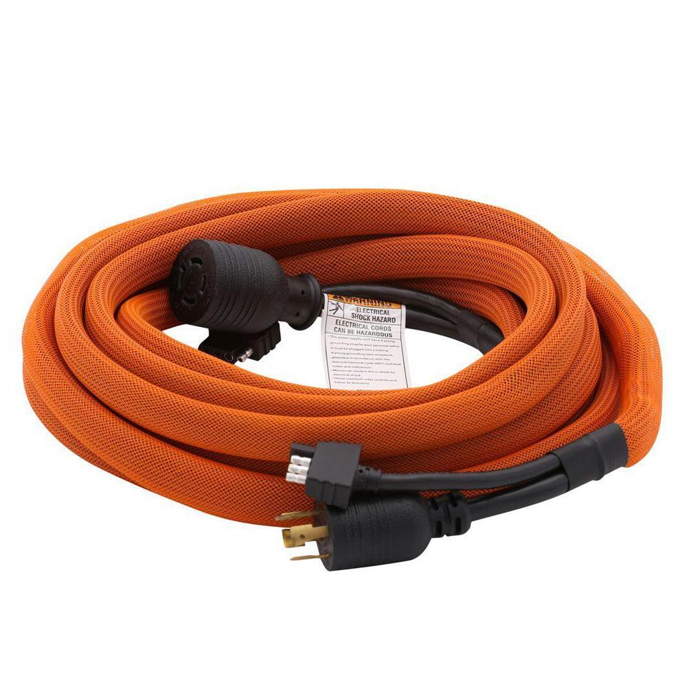ridgid 25 ft  generator extension cord