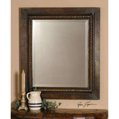 32 in. x 28 in. Metal Rectangular Framed Mirror