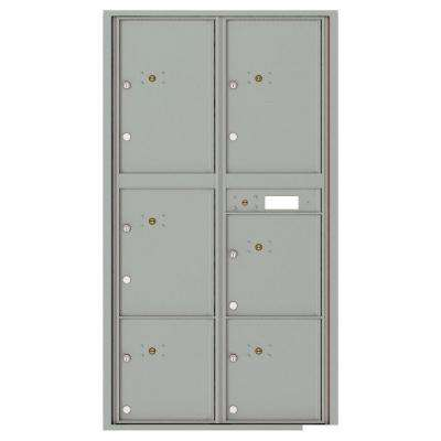 Versatile Max Height 6-Parcel Lockers Wall-Mount 4C Mailbox Suite