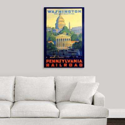 """Pennsylvania Railroad, Washington D.C., Vintage Poster, by Grif Teller"" by Great BIG Canvas Canvas Wall Art"