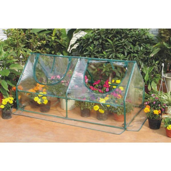 47 In L X 23 5 8 In W X 23 5 8 In H Garden Cold Frame Greenhouse Cloche For Easy Access Protected Gardening Sh3212a The Home Depot