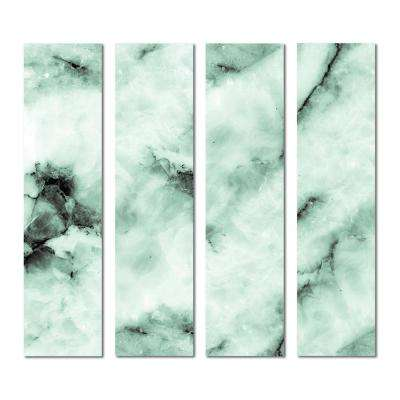 3 in. x 12 in. x 6mm Upscale Designs Crystal Beveled Glass Mosaic Wall Tile ( 7.8 sq.ft. / set of 32)