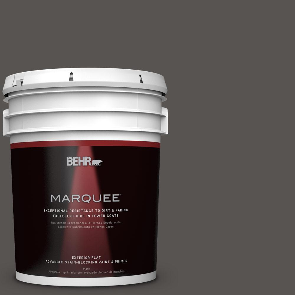 5 gal. #HDC-CL-24G Equestrian Leather Flat Exterior Paint